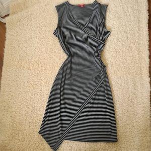 SES Size 14 Black Stripe White Dress Pattern   Black Summer Casual Dress